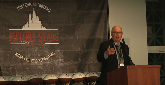 jerry kill delivers the keynote at the #tlfuturestars banquet