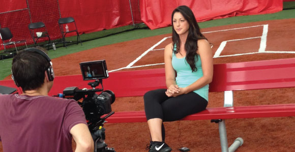 morgan stuart of the packaged deal goes on camera to tell her tips for softball recruiting