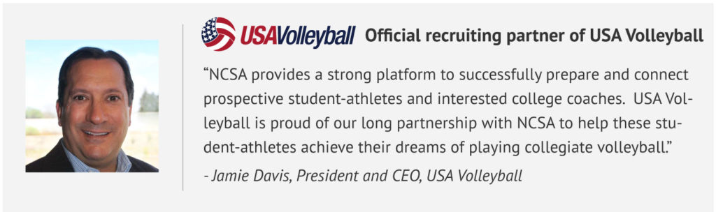 Official recruiting partner of USA Volleyball